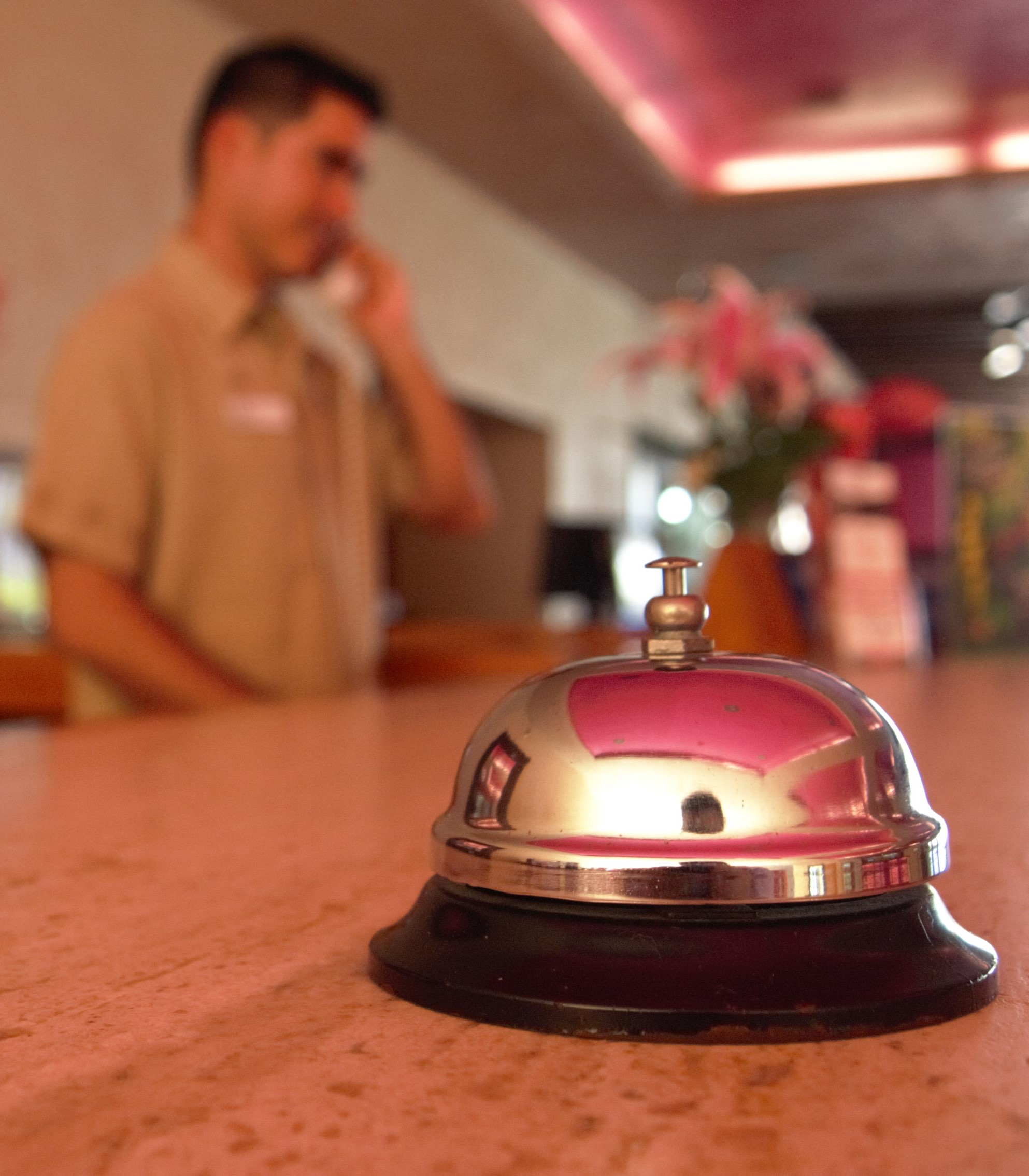 service bell at resort counter